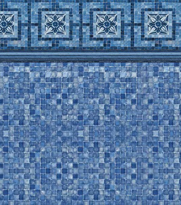 Vintage Mosaic Blue Mosaic